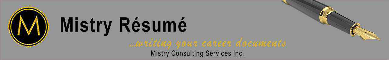 Mistry Resume Mistry Consulting Services Inc. Logo Banner